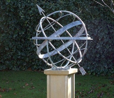 Keeping time with garden armillaries