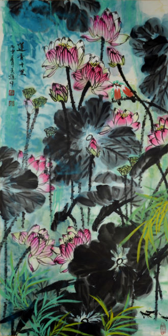 'Lotus' (2016) by Zhang Xiujin (b. 1951). Gianguan Auctions image