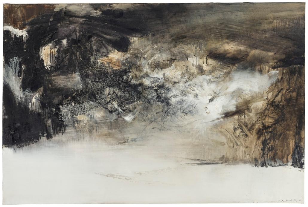 Zao Wou-Ki, 27.3.70 oil on canvas, 52 x 77 1/2 in. Estimate: HKD 38,000,000 – 48,000,000. Courtesy Christie's Images Ltd. 2019