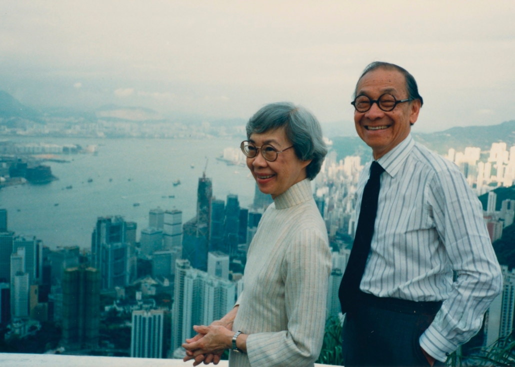 Eileen and I.M. Pei, Hong Kong, 1988   Courtesy Eileen and I.M. Pei Family Archive