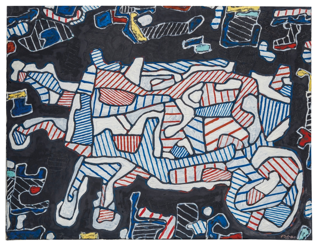 Jean Dubuffet, La Brouette (The Wheelbarrow), oil on canvas, 35 x 45 in. Painted in 1964. Estimate: EUR 350,000 – 550,000. Courtesy Christie's Images Ltd. 2019