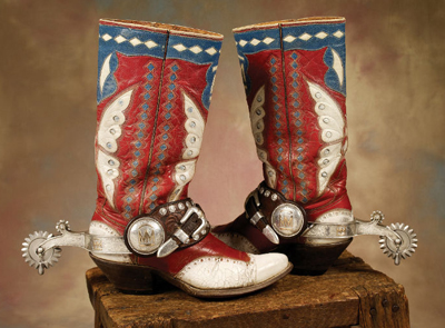 In step with vintage cowboy boots