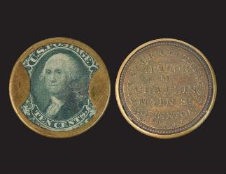 Encased postage stamps: numismatic hybrids