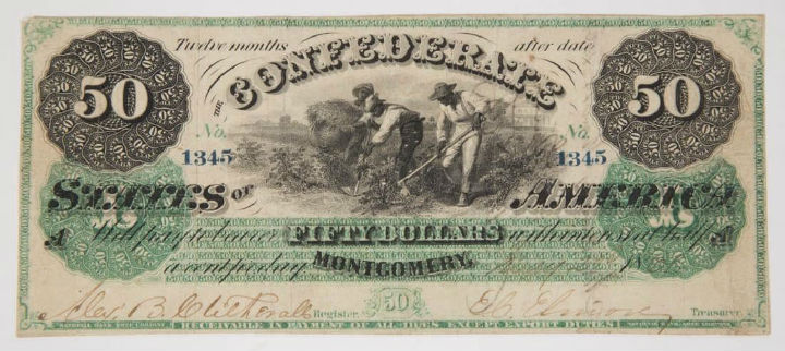 Confederate money - $50 currency/note