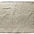 Egyptian limestone relief