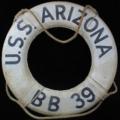 Life buoy from USS Arizona