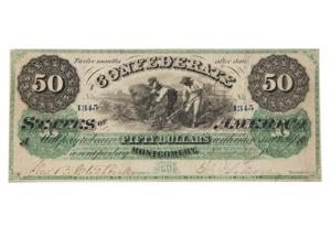 Confederate money: strong dollar