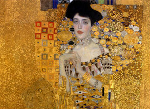 Gustav Klimt's paintings are pure gold