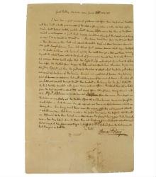 Alderfer Auction to offer Revolutionary War letter Dec. 12