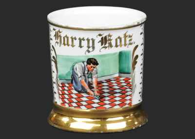 Occupational shaving mugs: men at work