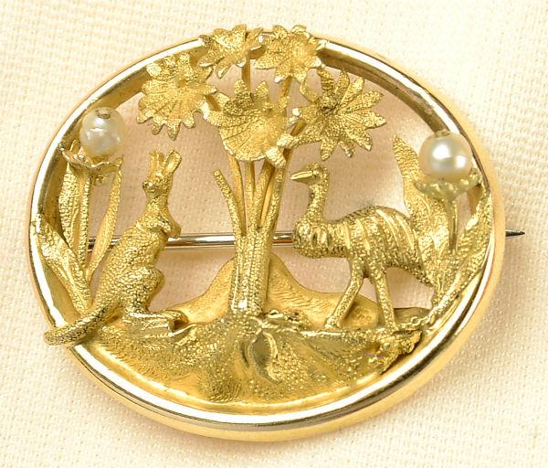 Colonial Australian brooch