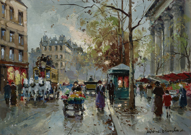 Antoine Blanchard's Parisian streets