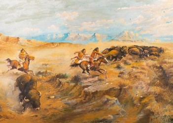 William Standing painting sets record at March in Montana