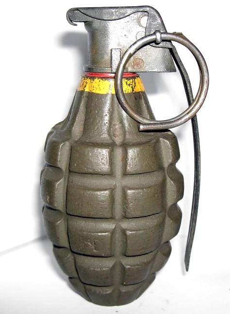 Grenade on display at Gettysburg