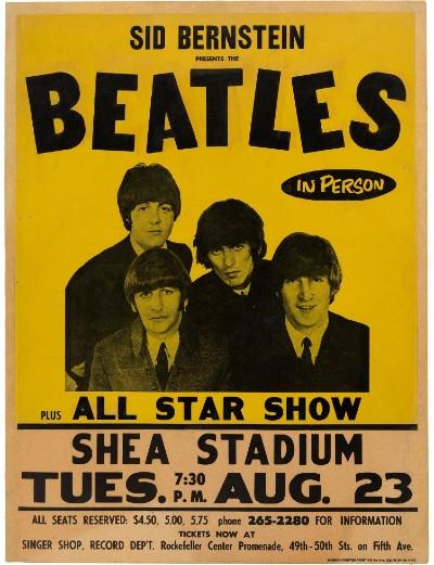 Gallery Report: Beatles Shea Stadium poster brings $137,500