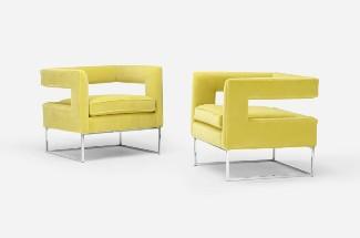 Milo Baughman's dramatic furniture designs
