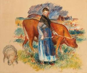 Renoir study leads Hindman fine art sale May 20