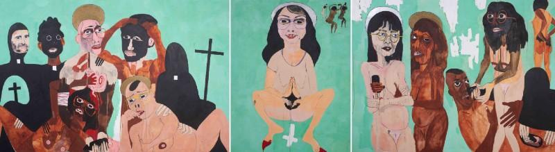 Abney triptych leads William Bunch June 30 art auction