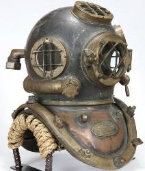 The Hot Bid: Earliest Navy Mark V diving helmet surfaces