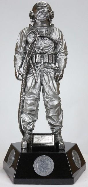 early Navy diving helmet