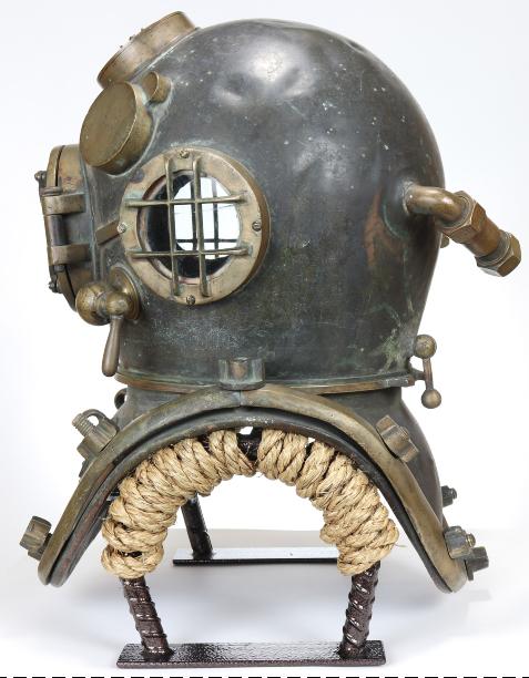 Navy Mark V diving helmet