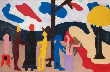 Gallery Report: Bob Thompson painting skyrockets at Hindman