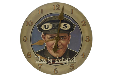 Early advertising clocks: time to buy