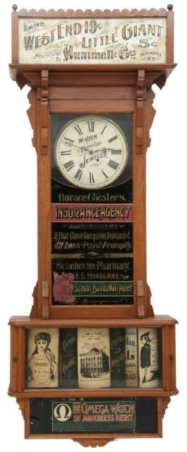 advertising clocks
