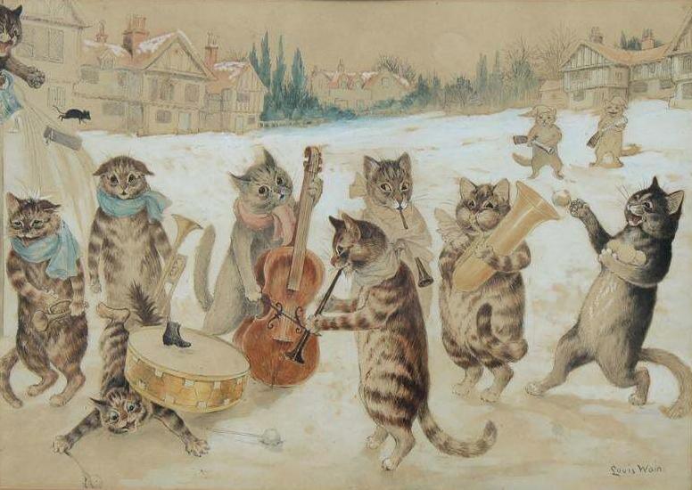 Louis Wain: England's cat-daddy of feline art