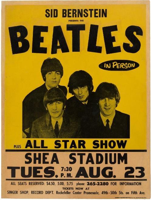 Beatles concert poster