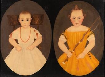 Folk art double portrait tops Jeffrey Evans sale at $81,900