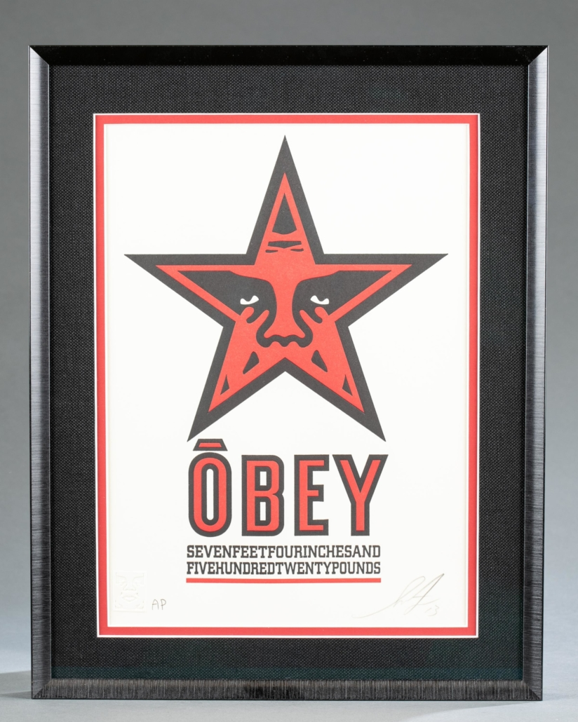 Shepard Fairey (American, b. 1970-), Obey Star Letterpress. Edition of 400, published May 21, 2013. Artist-signed. Est. $160-$260