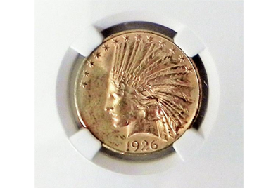 US $10 gold pieces add weight to Stephenson's coin auction Dec. 20