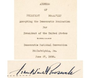 FDR speech leads Early American History Auctions Jan. 23 sale