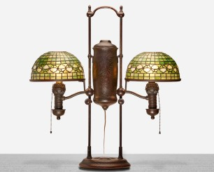 20th century lighting, art glass on tap at Moran's, March 2