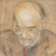 Portrait of Allen Ginsberg by Gordon Stuart.