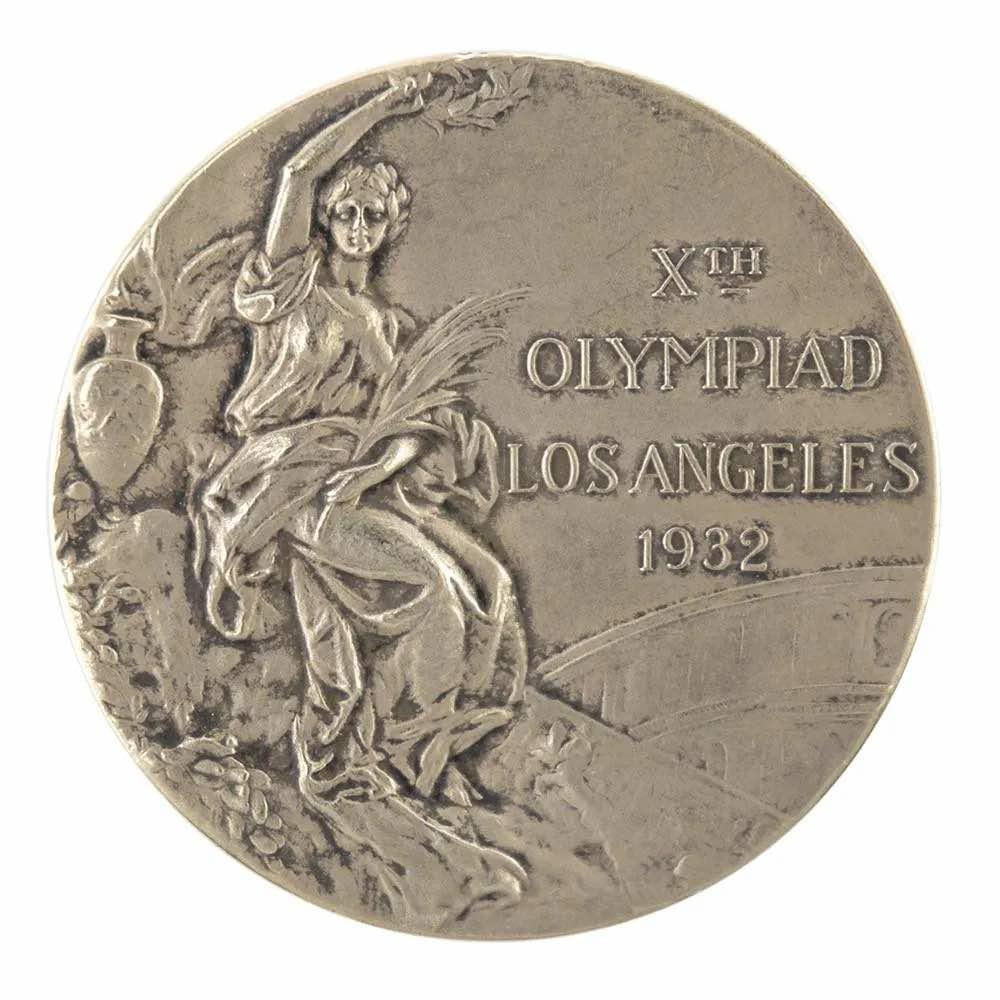 Los Angeles 1932 Summer Olympics gold medal, $74,574.