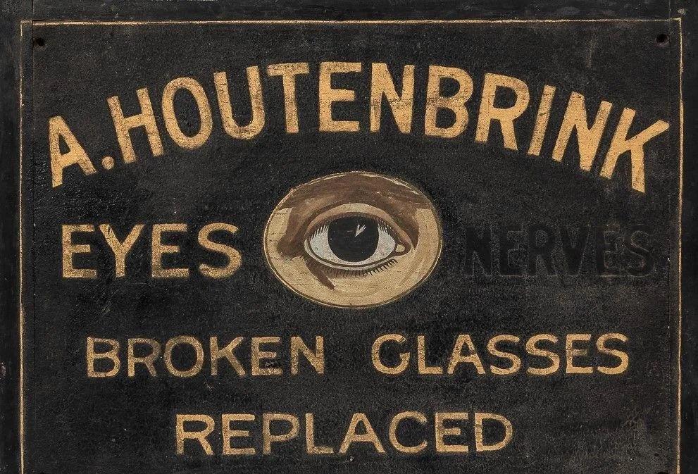 Houtenbrink painted wood trade sign, circa 1917, $3,000-$3,500. Image courtesy Jasper52
