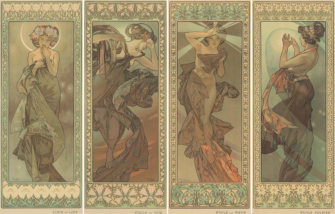 Alphonse Mucha's <em>The Stars</em>, $72,000, Poster Auctions International