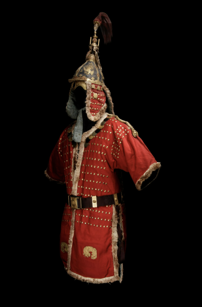 A Set of Joseon Dynasty Studded Armor and Helmet. 19th Century. Price realized: $293,750