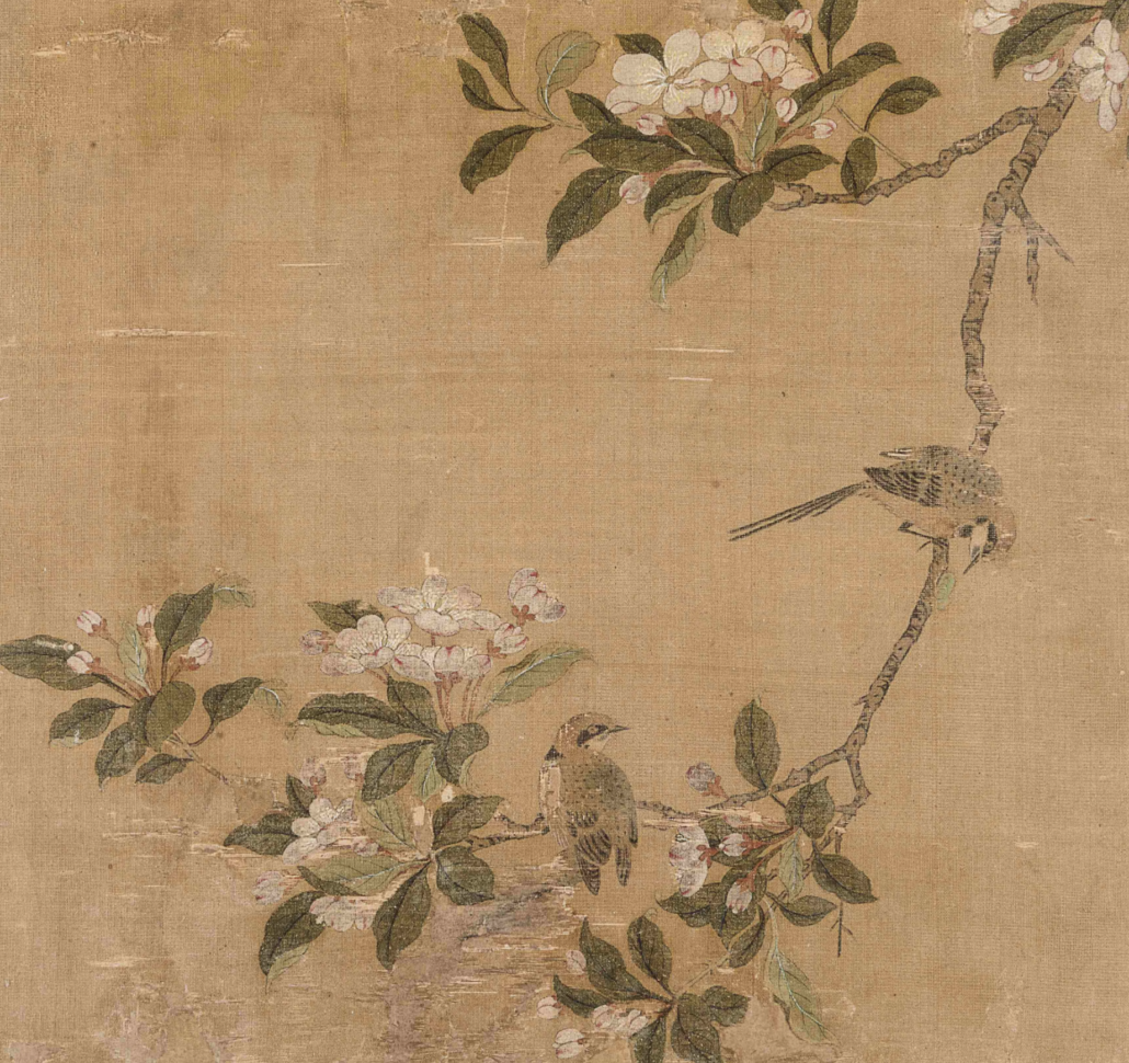 Willows on Riverbank. Attributed to Zhao Danian. From Five Loose Album Leaves Depicting Landscapes, Birds and Flowers. Price realized (for all album leaves): $175,000