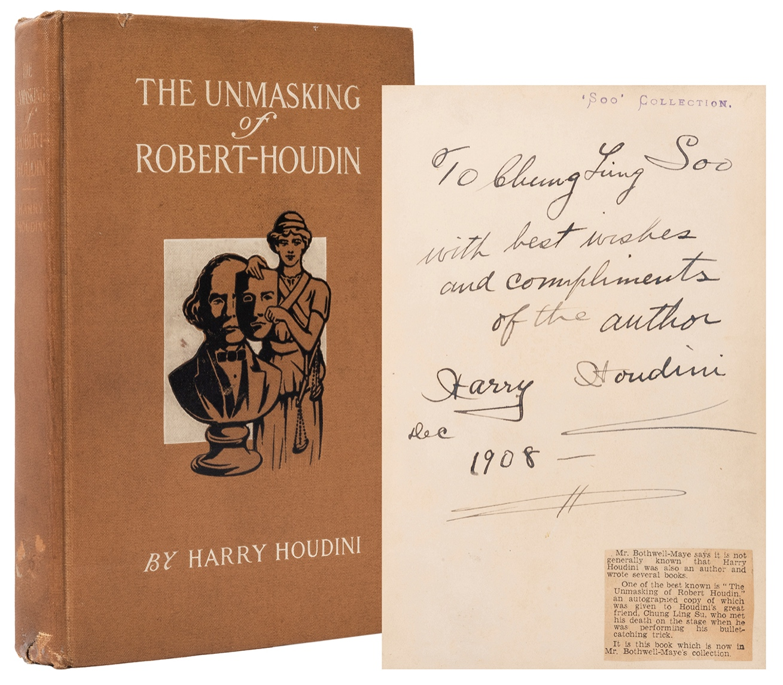 Houdini signed book, $26,400, Potter & Potter