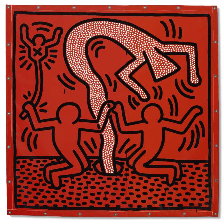 Keith Haring painting, $3 million, Christie's