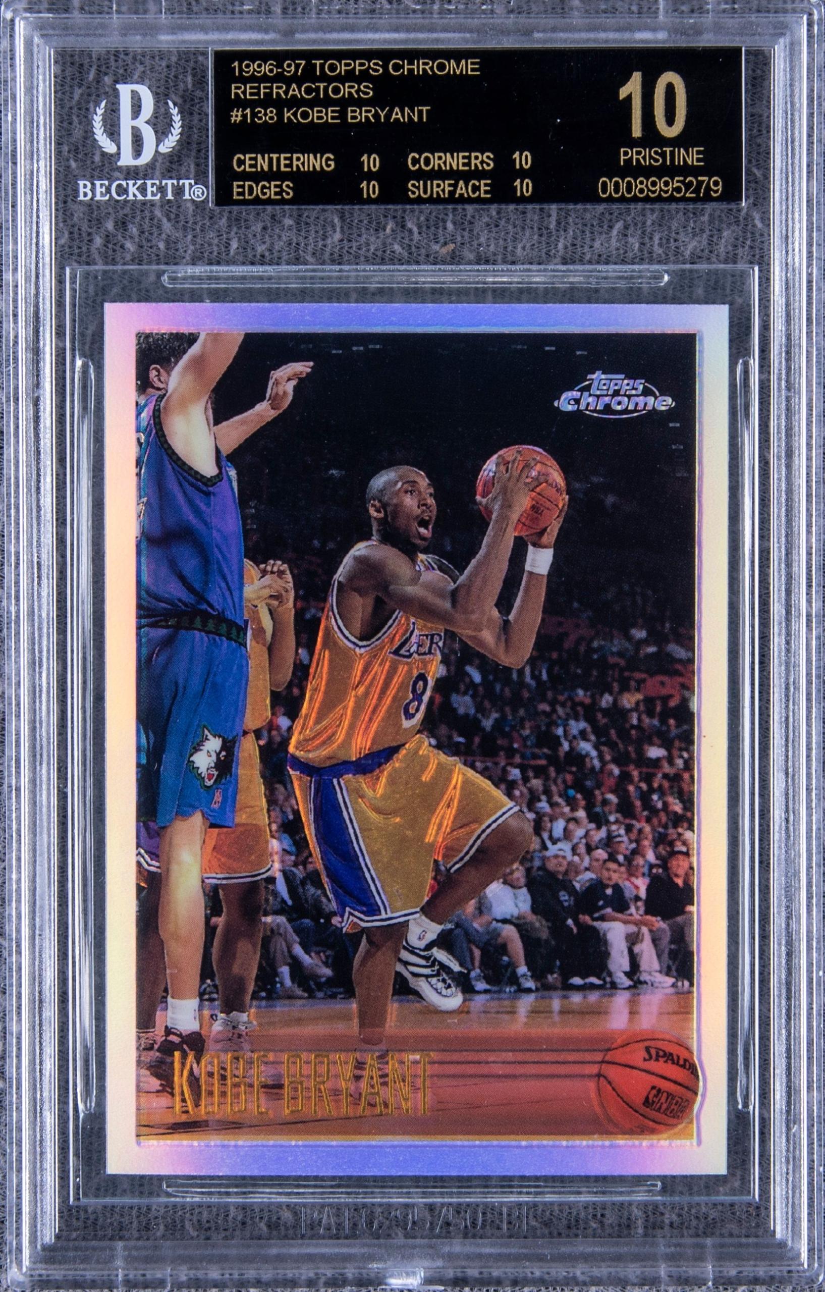 Kobe Bryant Topps rookie card, $1.796 million, Goldin Auctions