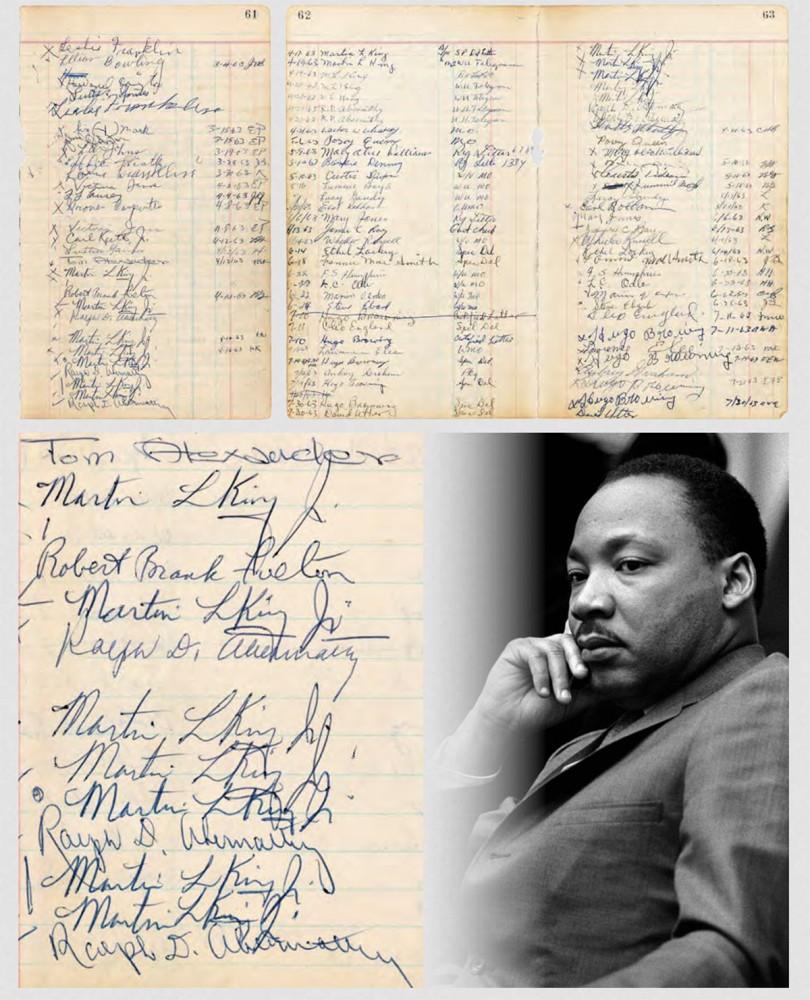 MLK jailhouse logbook, $130,909, Hake's Auctions