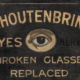 Image of vintage eye doctor trade sign