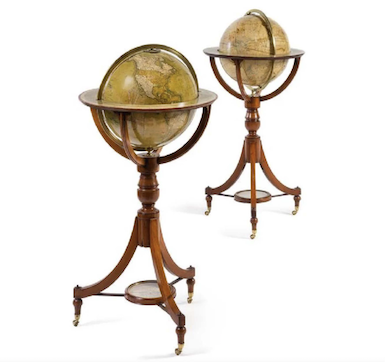 Antique globes put a new spin on our world view