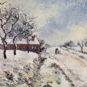 Camille Pissarro, 'Route Enneigée avec Maison.' Image courtesy M.S. Rau.
