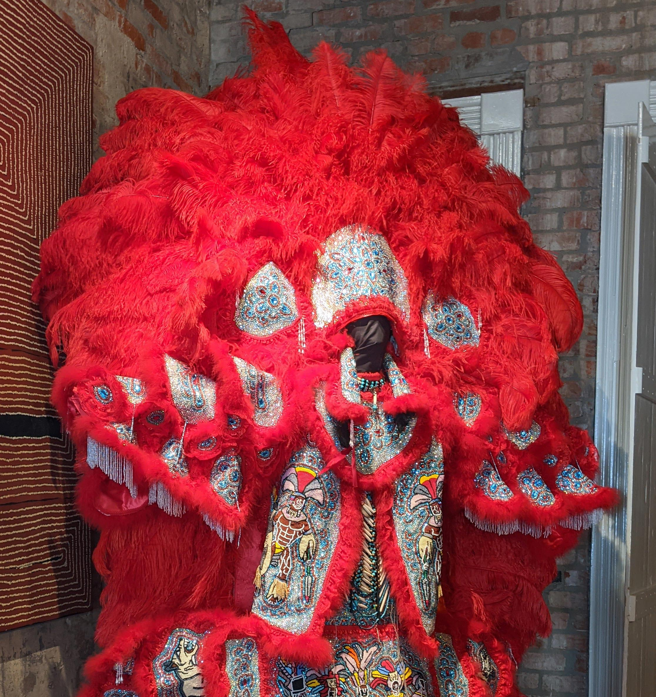 Mardi Gras Indian suit recently acquired by The Historic New Orleans Collection.