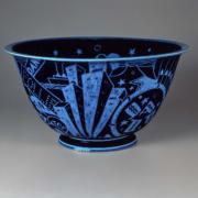 Viktor Schreckengost, Jazz bowl, 1930-31. Glazed porcelain. Museum of Fine Arts, Boston, The John Axelrod Collection. Courtesy of the MFA